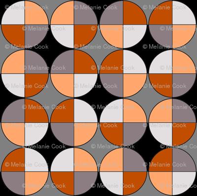 Quarters, in chocolate and orange