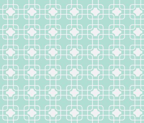 hollywood trellis mint fabric by ninaribena on Spoonflower - custom fabric