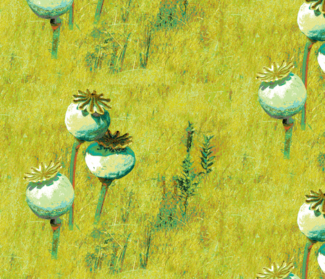 Poppy Pods fabric by haleystudio on Spoonflower - custom fabric