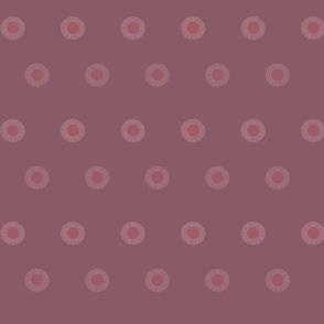 Dandelion dots in purple