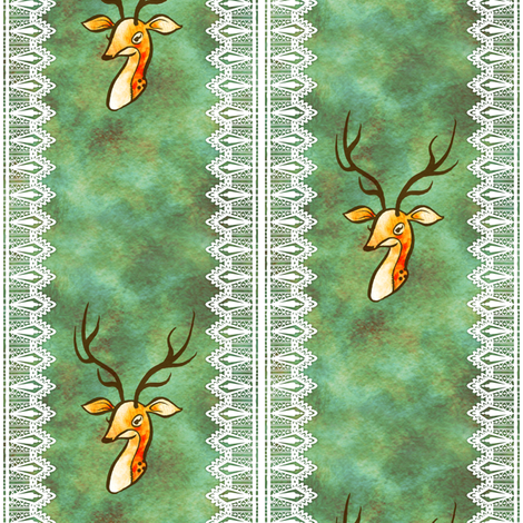 Deer II fabric by jadegordon on Spoonflower - custom fabric