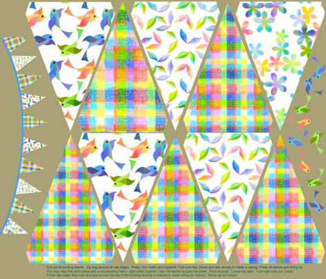 Why bunting? Because! fabric by vo_aka_virginiao on Spoonflower - custom fabric