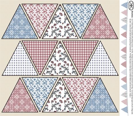 Bunting Flags fabric by kristopherk on Spoonflower - custom fabric