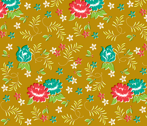 Western Botany fabric by tinornament on Spoonflower - custom fabric