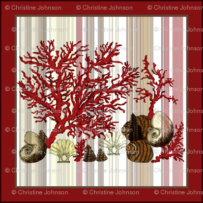 """Red Coral shells 18"""""""