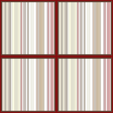 Red Coral Beach stripe  fabric by paragonstudios on Spoonflower - custom fabric