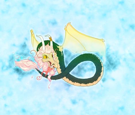 Dragon fabric by jadegordon on Spoonflower - custom fabric