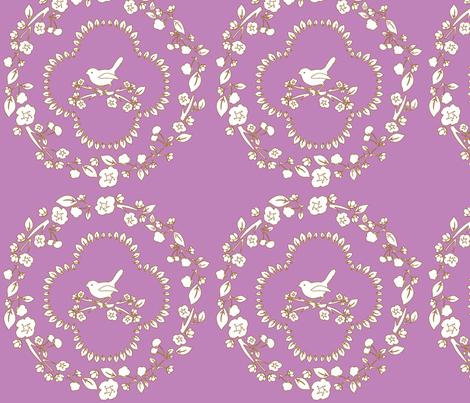 purple_simple_cherry_damask-ch fabric by flo_kraft on Spoonflower - custom fabric