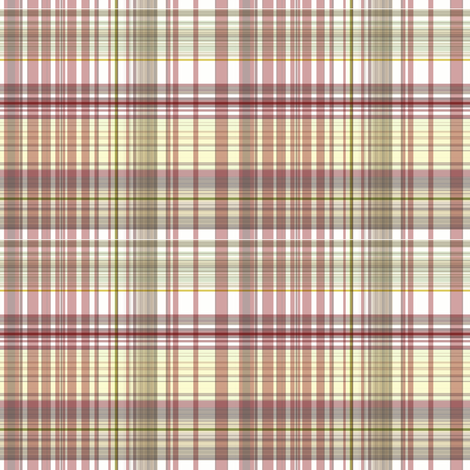 Red Coral Beach - bleached-out plaid fabric by paragonstudios on Spoonflower - custom fabric