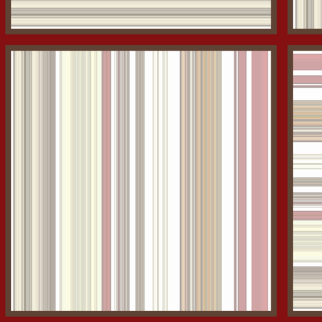 Red Coral Beach / stripe patch fabric by paragonstudios on Spoonflower - custom fabric