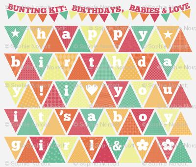 Bunting Kit: Birthdays, Babies, & Love