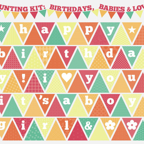 Bunting Kit: Birthdays, Babies, & Love