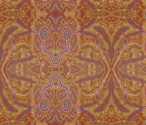 166_Bush_Tucker_Dreaming fabric by weerongabartoo on Spoonflower - custom fabric