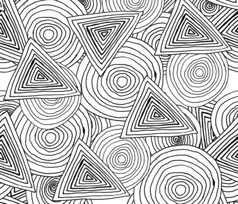 Gluekit: Shapes  fabric by gluekit on Spoonflower - custom fabric