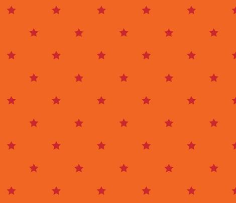 STARS_orange_red fabric by yvonne_herbst on Spoonflower - custom fabric