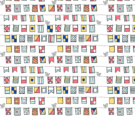 Beyond the Sea: Nautical Flags fabric by threeyellowplums on Spoonflower - custom fabric