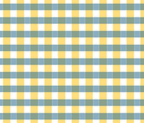 Beyond the Sea: Gingham Sun fabric by threeyellowplums on Spoonflower - custom fabric