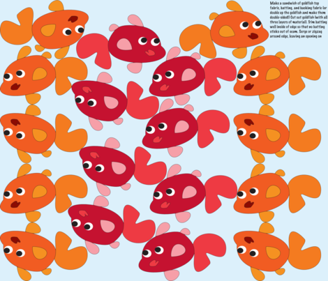 Goldfish Bunting fabric by fussypants on Spoonflower - custom fabric