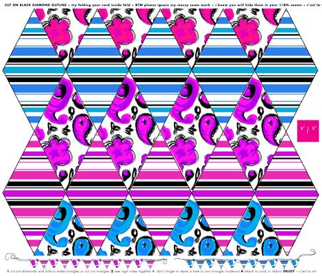 TEAM FLAGS: pink vs blue or stripes vs paisley  fabric by cest_la_viv on Spoonflower - custom fabric