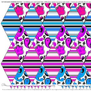 TEAM FLAGS: pink vs blue or stripes vs paisley