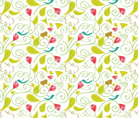 BOTANICAL fabric by mishysfire on Spoonflower - custom fabric