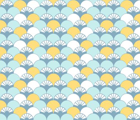 Beyond the Sea: Lotus fabric by threeyellowplums on Spoonflower - custom fabric