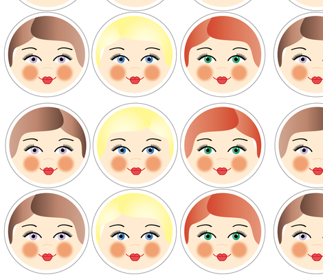 Doll_Faces fabric by jasmilly on Spoonflower - custom fabric