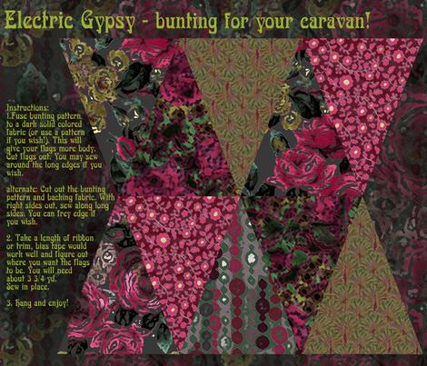 Electric Gypsy bunting fabric by minimiel on Spoonflower - custom fabric