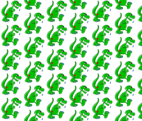 t-rex_vari2 fabric by annioutlife on Spoonflower - custom fabric