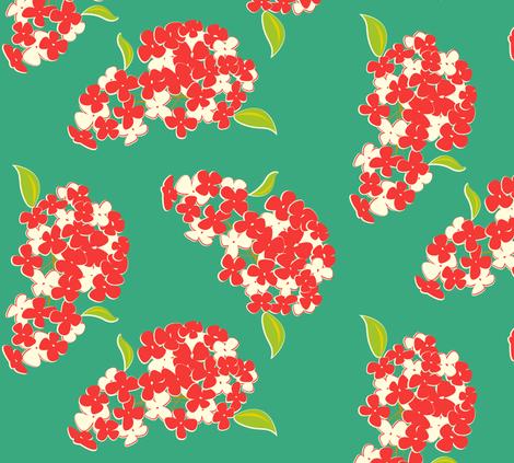 A large botanical fabric by featheredneststudio on Spoonflower - custom fabric