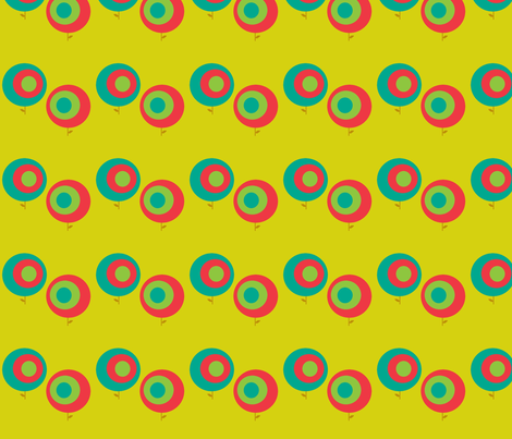 circleflower fabric by kate_fritts on Spoonflower - custom fabric