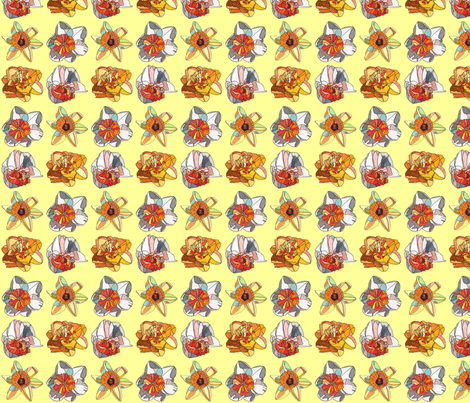 mini daffodils in yellow fabric by aprilmariemai on Spoonflower - custom fabric