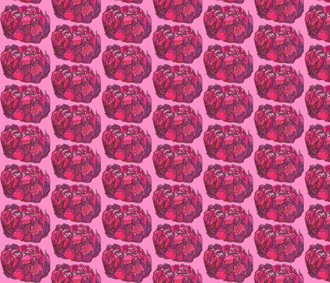 mini fuchsia peony in pink fabric by aprilmariemai on Spoonflower - custom fabric