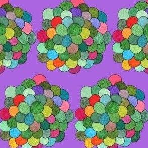mini petal cluster in purple