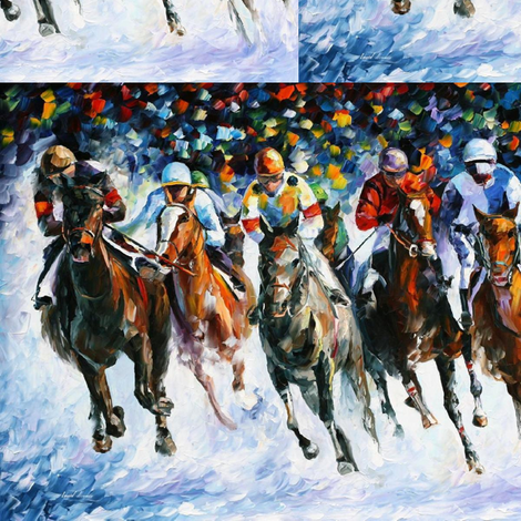 Race On Snow fabric by afremov_designs on Spoonflower - custom fabric