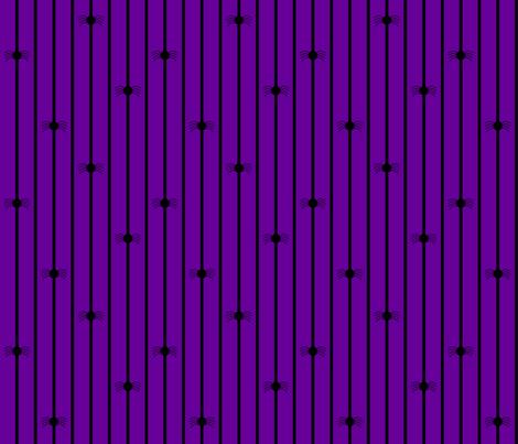 Spider Stripe Purple fabric by modgeek on Spoonflower - custom fabric