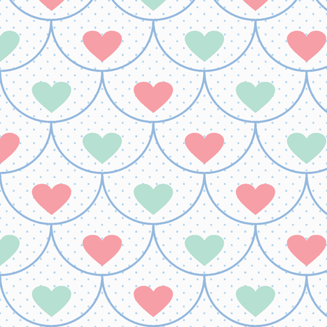 Lovey-Dovey Scallops fabric by saraink on Spoonflower - custom fabric