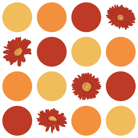 Daisy-Dot fabric by jmckinniss on Spoonflower - custom fabric