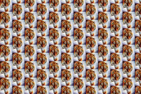 Tiger On Snow fabric by afremov_designs on Spoonflower - custom fabric