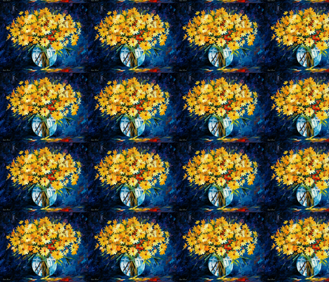 Yellow On Blue fabric by afremov_designs on Spoonflower - custom fabric