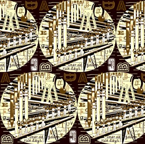 Dear Old Golden Rule Days fabric by robin_rice on Spoonflower - custom fabric