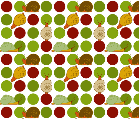 Snail-Dot fabric by jmckinniss on Spoonflower - custom fabric