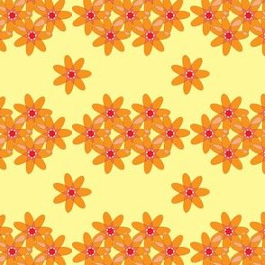 Atomic Daisies in red