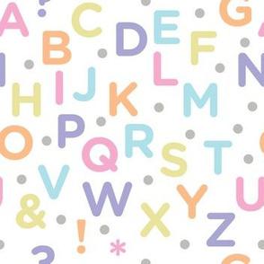 Alphabet Pastel Funtimes