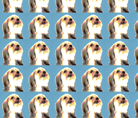 Dog in Blue fabric by elsie4lc on Spoonflower - custom fabric