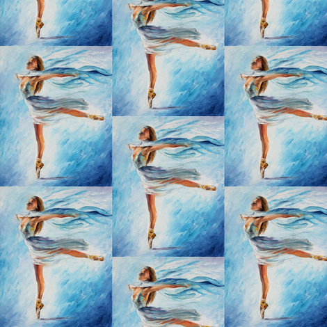 The Sky Dance fabric by afremov_designs on Spoonflower - custom fabric