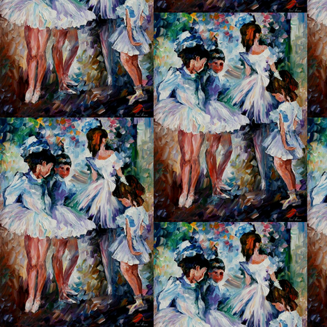 Young Ballerinas fabric by afremov_designs on Spoonflower - custom fabric