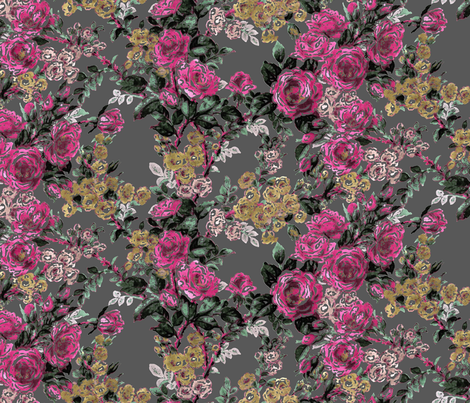 Electric Gypsy Large Floral fabric by minimiel on Spoonflower - custom fabric