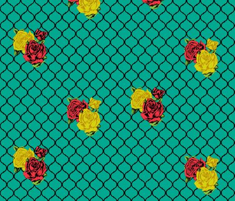rose lattice fabric by trollop on Spoonflower - custom fabric