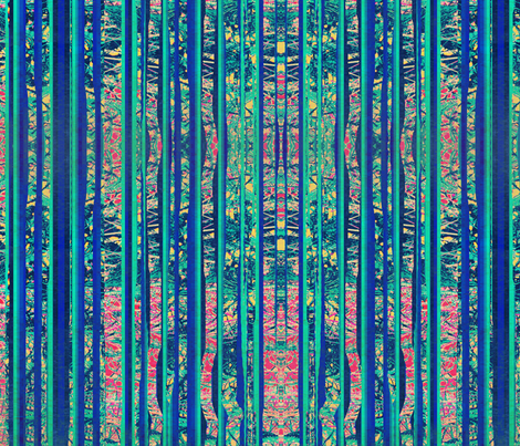 Green and Blue Meadowlands Stripe fabric by robin_rice on Spoonflower - custom fabric